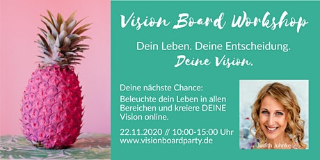 Vision Board Party workshop online - Übungen, Board Erstellung, Umsetzung Tickets