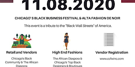 CCFW INC 's Chicago Black Business Festival & Alta Fashion de Noir Tickets tickets