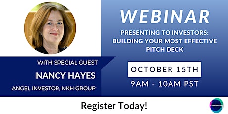 Presenting to Investors:  Building your most effective pitch deck tickets