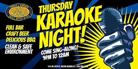 Thursday Karaoke Night at Holy Mackerel tickets