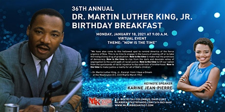 36th Annual Dr. Martin Luther King, Jr. Birthday Breakfast tickets