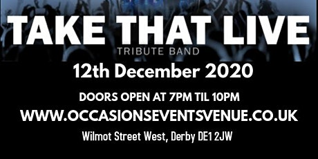 Christmas party with Take That Live and food tickets