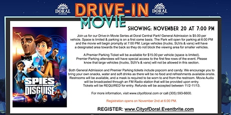 Drive-In Movie: Spies In Disguise tickets