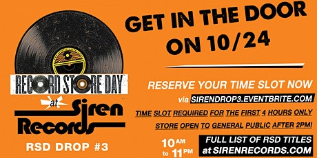 Record Store Day Drop #3 Reservations! tickets