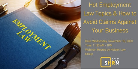 Hot Employment Law Topics and How to Avoid Claims Against Your Business tickets