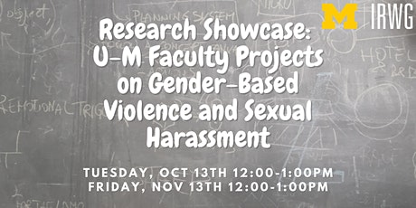 U-M Faculty Projects on Gender-Based Violence and Sexual Harassment tickets
