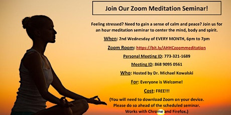 Join Our Zoom Meditation Seminar! tickets