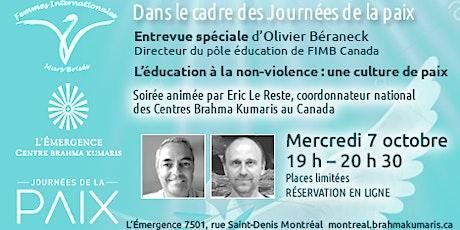 Conférence  spéciale     Journées de la paix tickets