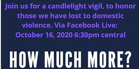 Candlelight vigil: Honoring domestic violence victims tickets