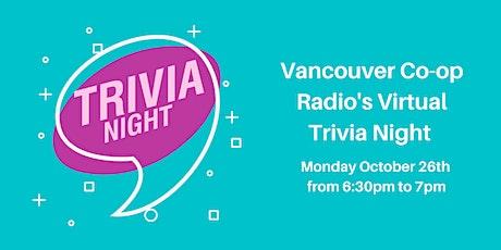 Vancouver Co-op Radio Virtual Trivia Night Fundraiser! tickets
