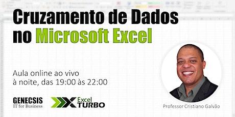 Cruzamento de Dados no Microsoft Excel bilhetes