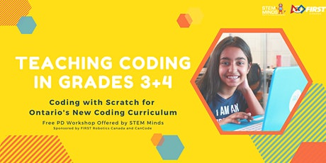 FREE! Teaching Coding in Grades 3 + 4 with Scratch tickets