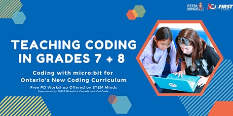 FREE! Teaching Coding in Grades 7 + 8 with micro:bit tickets