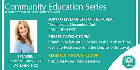 Community Education Series:Rising to Resilience from the Depths of Betrayal tickets