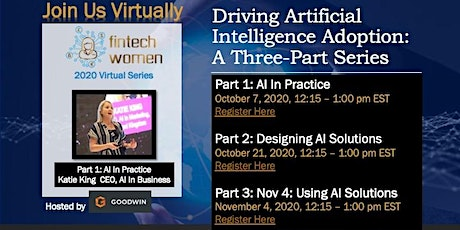 Driving Artificial Intelligence Adoption | Part 1: Driving AI Adoption tickets
