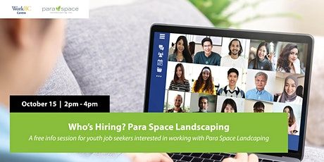 Para Space Landscaping Hiring Info Session tickets