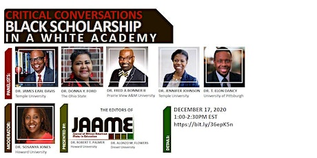 Critical Conversations: Black Scholarship in a White Academy  tickets