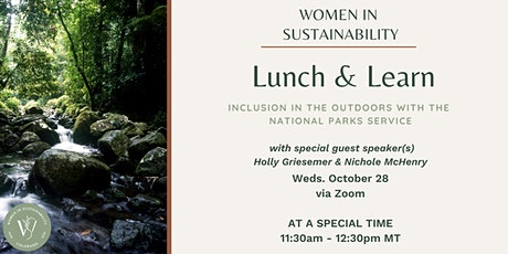 Women in Sustainability - Inclusion in the Outdoors w/ the National Parks tickets