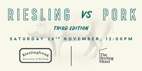 Stirling Hotel Riesling vs Pork Luncheon tickets