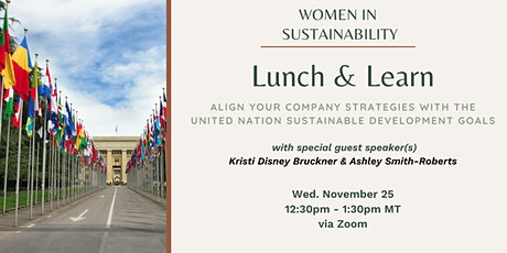 Women in Sustainability - Align Your Company Strategies with the UN's SDGs tickets