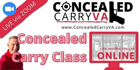 Concealed Carry Class (VIRTUAL) tickets