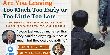 Are You Leaving Too Much Too Early or Too Little Too Late tickets