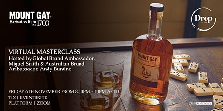 Mount Gay Barbados Rum Virtual Masterclass with Miguel Smith tickets