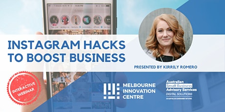 [WEBINAR] Instagram Hacks to Boost Business tickets