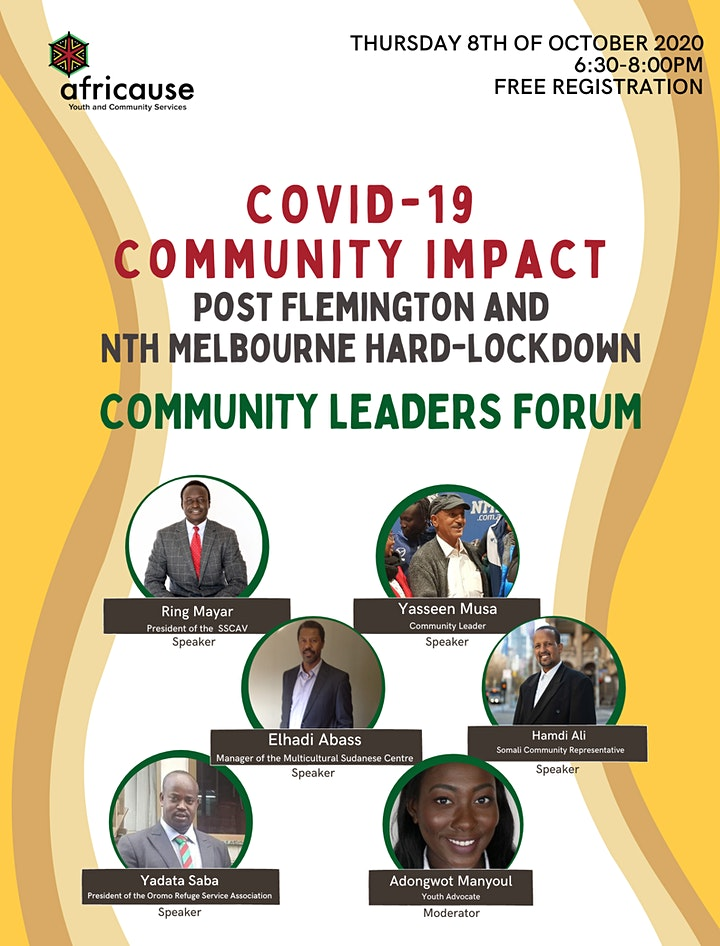 COVID-19 Community Impact. Community Leaders forum image