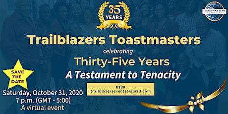 Trailblazers Toastmasters 35th Anniversary tickets