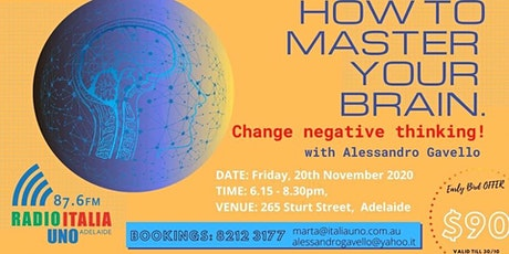 How to Master your Brain: change negative thinking (Live & Onlive on Zoom) tickets