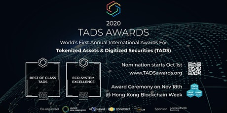TADS AWARDS GALA 2020 - online award presentation ceremony for TADS Awards tickets