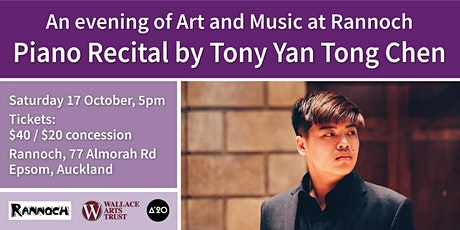 An evening of art and music at Rannoch: Piano Recital by Tony Yan Tong Chen tickets