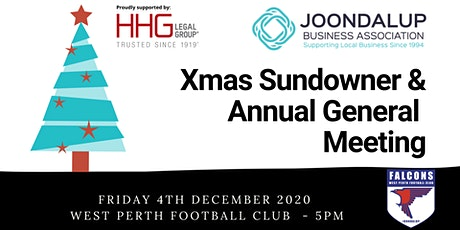 JBA Xmas Sundowner at West Perth Football Club supported by HHG Legal Group tickets