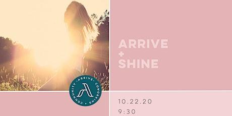October Arrive + Shine tickets