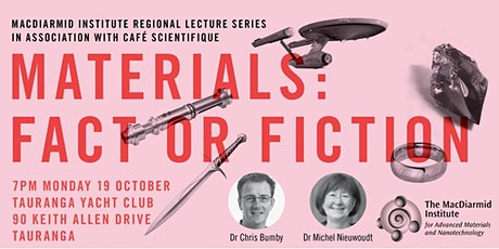Cafe Scientifique & MacDiarmid Inst - Materials: Fact or Fiction tickets