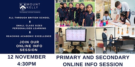 Primary and Secondary School Online Info Session tickets