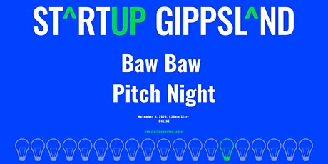 Startup Gippsland - Baw Baw Pitch Night tickets