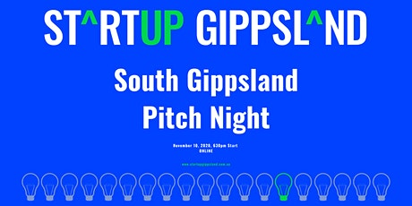 Startup Gippsland - South Gippsland Pitch Night tickets