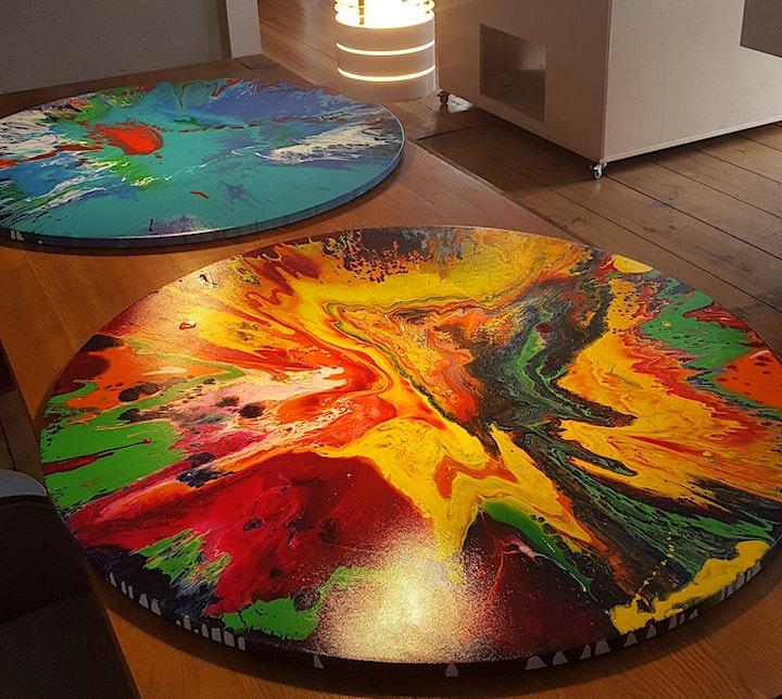 Gestalte Dein eigenes großes Spin Painting: Bild
