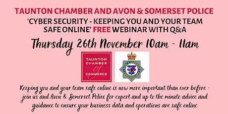 Cyber Security - keeping you safe online with Avon & Somerset Police tickets
