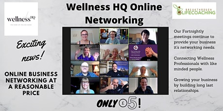 Wellness HQ Online Networking  10th  of November 2020 tickets