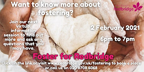 Foster for Redbridge Information Session, 02.02.21, 6-7pm tickets