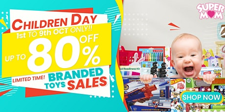 SuperMom Biggest Branded Toy Sales! – Massive discounts on branded toys! tickets