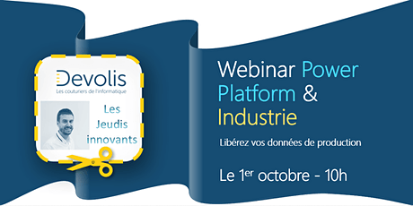 Devolis - Webinar Power Platform et Industrie billets