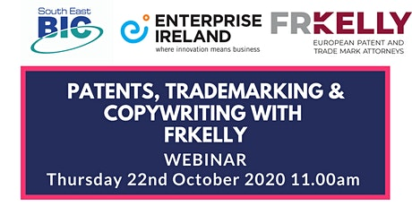Patents, Trademarking & Copyright with FRKelly & Enterprise Ireland tickets