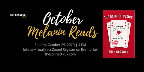 """Melanin Reads October Book Club- """" The Game of Desire"""" by Shannon Boodram tickets"""