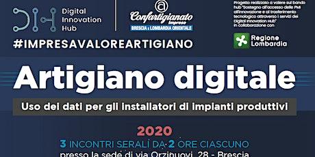 Artigiano Digitale: uso dei dati per installatori di impianti produttivi biglietti