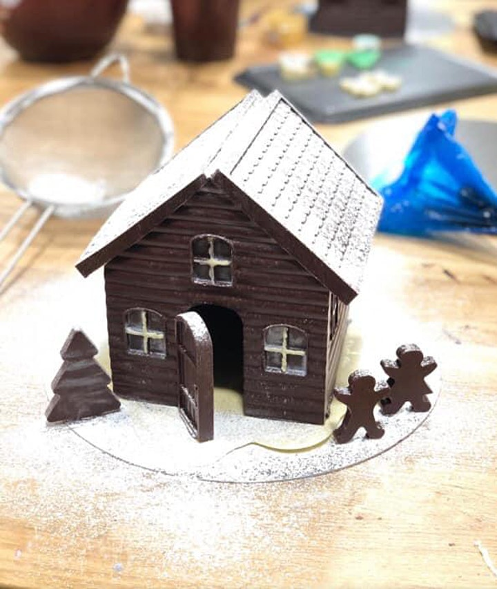 Christmas Chocolate Cottage Making image