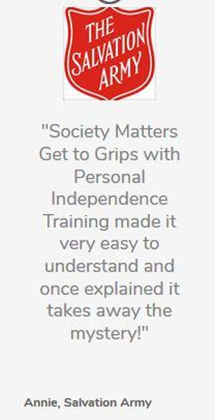 Get to Grips with Personal Independence Payment (Online) image